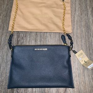 100% Authentic Burberry Blue Carbon Crossbody NWT